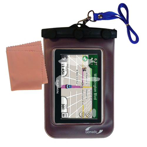 Waterproof Case compatible with the Garmin Nuvi 2450 to use underwater