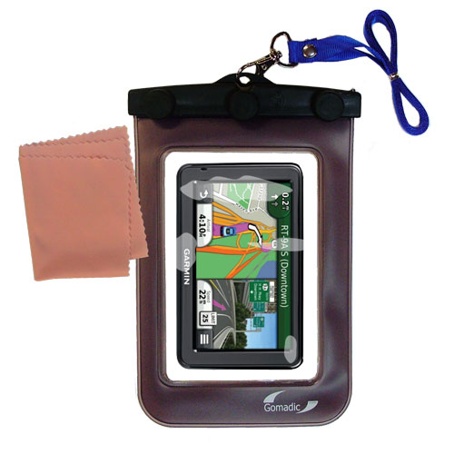 Waterproof Case compatible with the Garmin Nuvi 2455 2475LT 2495LMT 2455LMT to use underwater