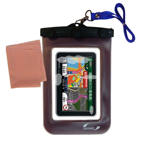 Waterproof Case compatible with the Garmin Nuvi 2555 2595 LMT to use underwater
