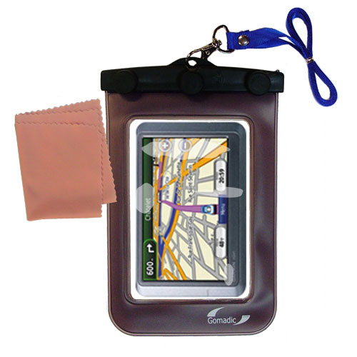 Waterproof Case compatible with the Garmin nuvi 255WT to use underwater