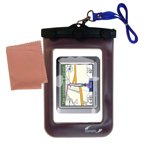 Waterproof Case compatible with the Garmin Nuvi 260 to use underwater