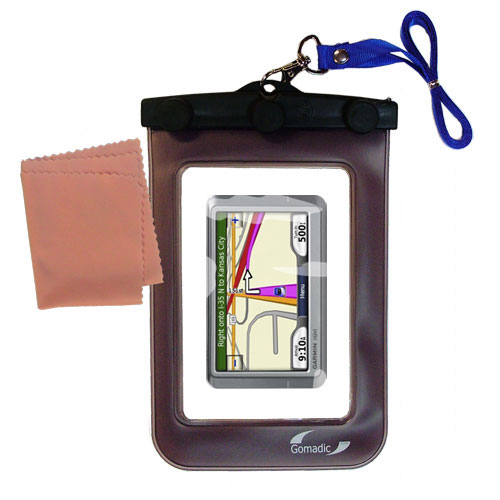 Waterproof Case compatible with the Garmin Nuvi 260W 260 to use underwater