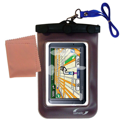 Waterproof Case compatible with the Garmin Nuvi 265WT 265T to use underwater