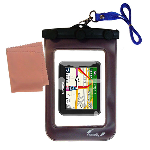 Waterproof Case compatible with the Garmin Nuvi 30 to use underwater