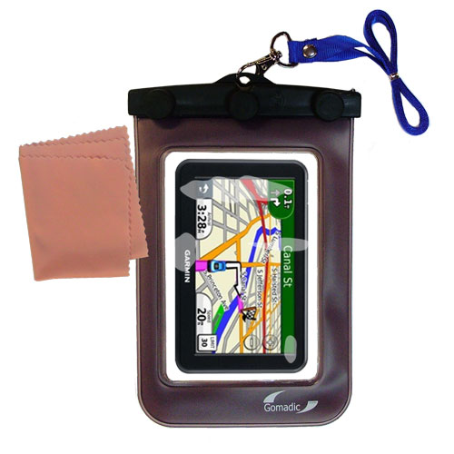 Waterproof Case compatible with the Garmin Nuvi 3450 3450LM to use underwater
