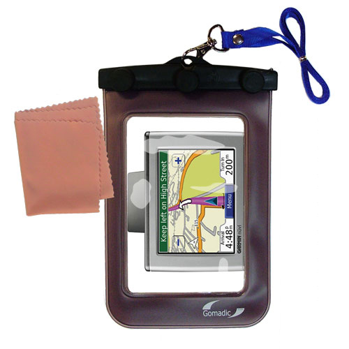 Waterproof Case compatible with the Garmin Nuvi 350 to use underwater