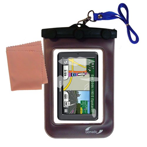 Waterproof Case compatible with the Garmin Nuvi 3550 to use underwater