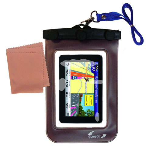 Waterproof Case compatible with the Garmin Nuvi 3590 3590LMT to use underwater