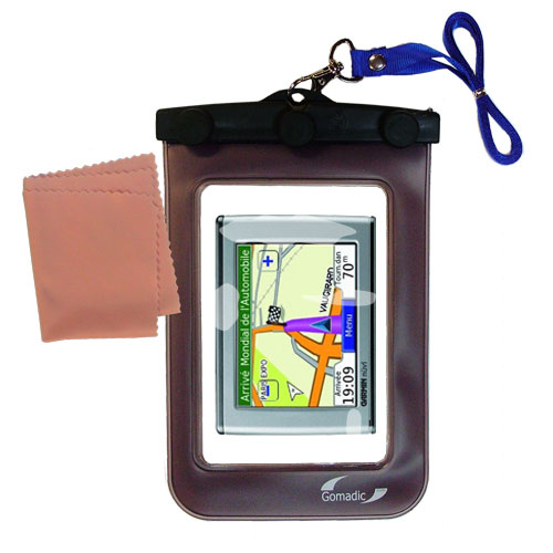 Waterproof Case compatible with the Garmin Nuvi 370 to use underwater