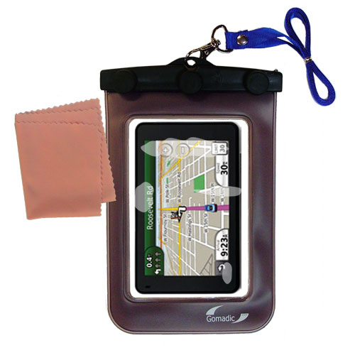 Waterproof Case compatible with the Garmin Nuvi 3760T to use underwater