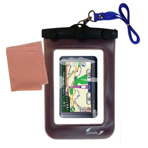 Waterproof Case compatible with the Garmin Nuvi 465T 465LMT to use underwater