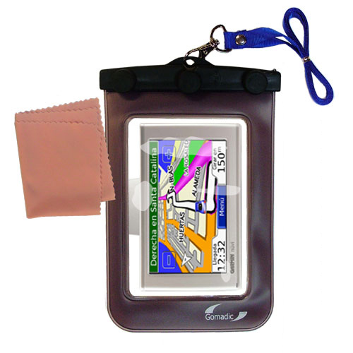 Waterproof Case compatible with the Garmin Nuvi 610 to use underwater