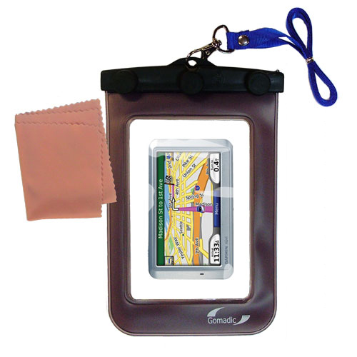 Waterproof Case compatible with the Garmin Nuvi 710 to use underwater