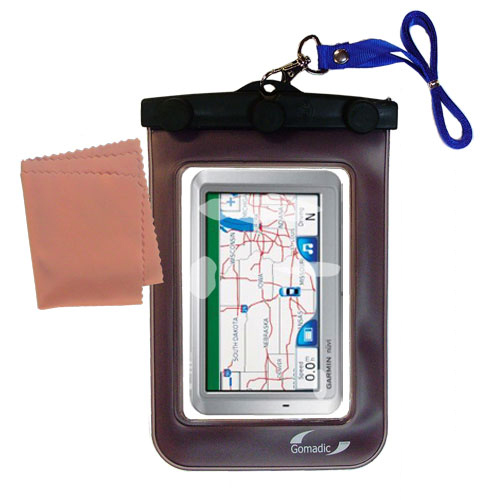 Waterproof Case compatible with the Garmin Nuvi 750 to use underwater
