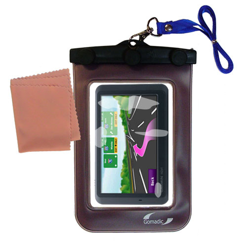Waterproof Case compatible with the Garmin Nuvi 755T to use underwater