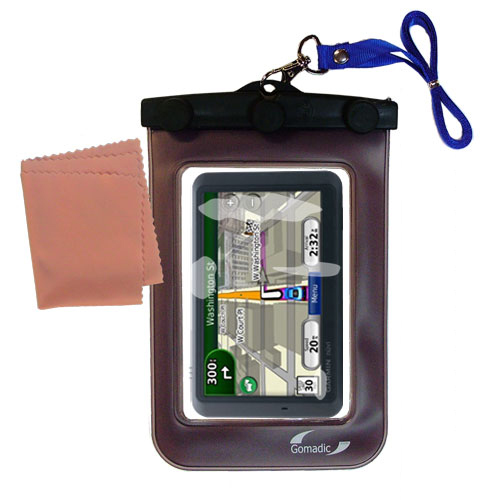 Waterproof Case compatible with the Garmin Nuvi 765T to use underwater