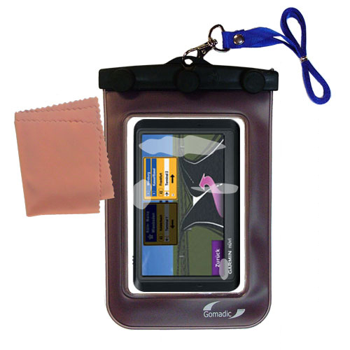 Waterproof Case compatible with the Garmin Nuvi 765TFM to use underwater