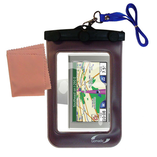 Waterproof Case compatible with the Garmin Nuvi 780 to use underwater
