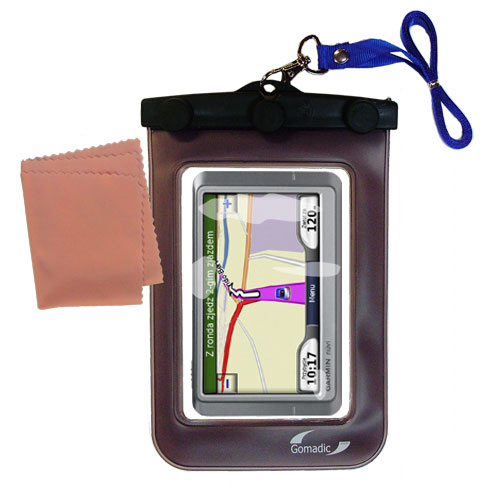 Waterproof Case compatible with the Garmin Nuvi 850 to use underwater