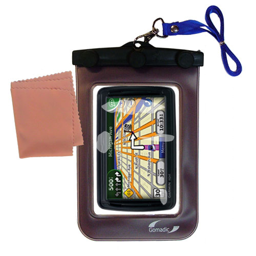 Waterproof Case compatible with the Garmin Nuvi 855 to use underwater