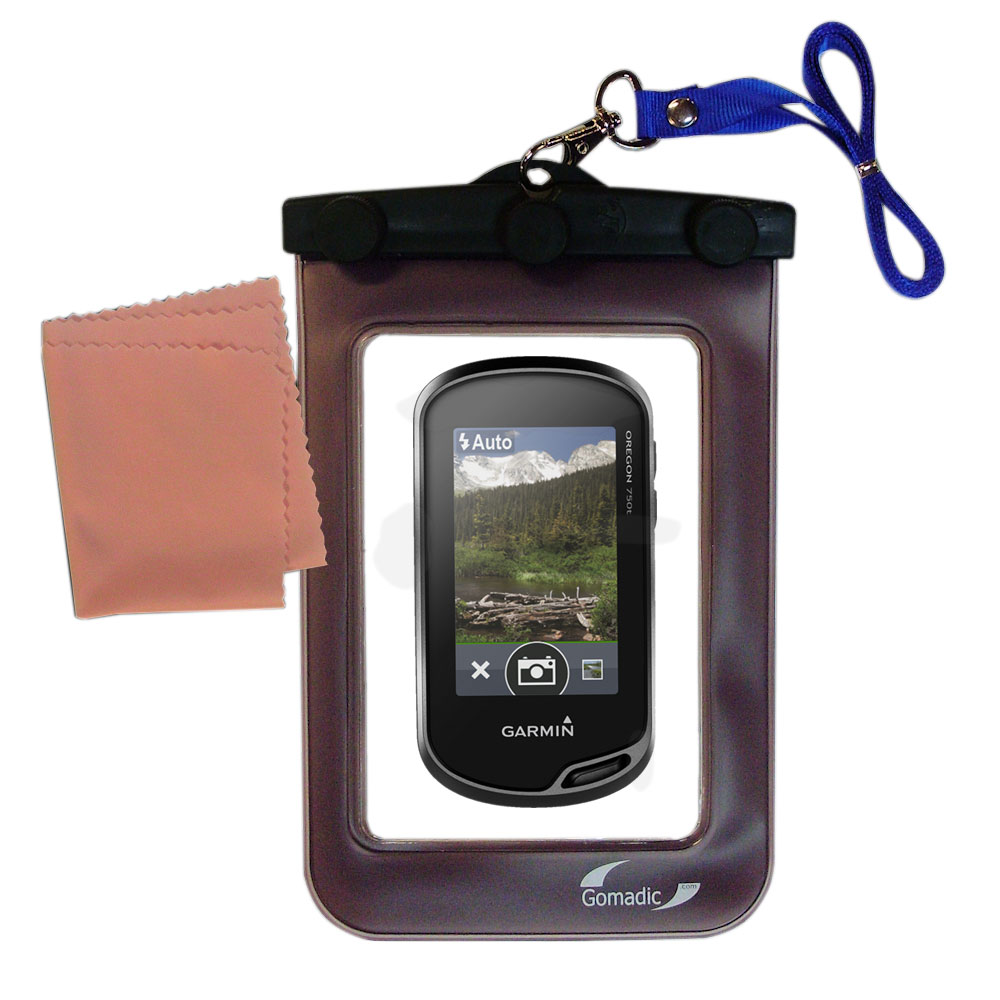 Waterproof Case compatible with the Garmin Oregon 750 / 750t to use underwater