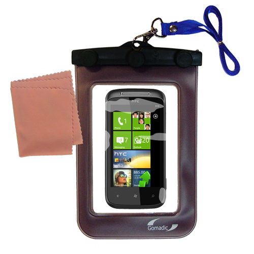 Waterproof Case compatible with the HTC 7 Trophy to use underwater