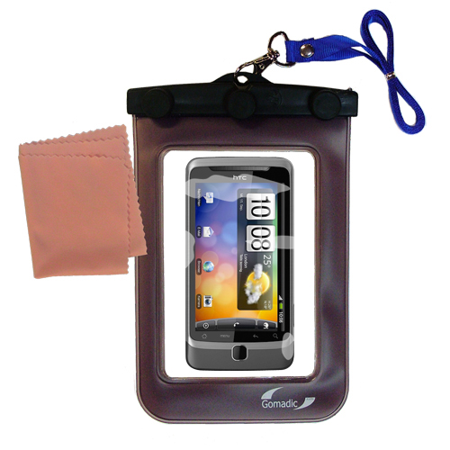 Waterproof Case compatible with the HTC Desire Z to use underwater