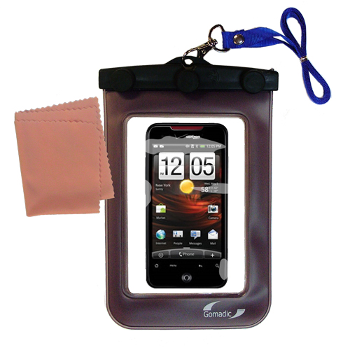 Waterproof Case compatible with the HTC DROID Incredible to use underwater