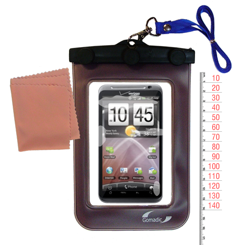 Waterproof Case compatible with the HTC Droid Thunderbolt to use underwater
