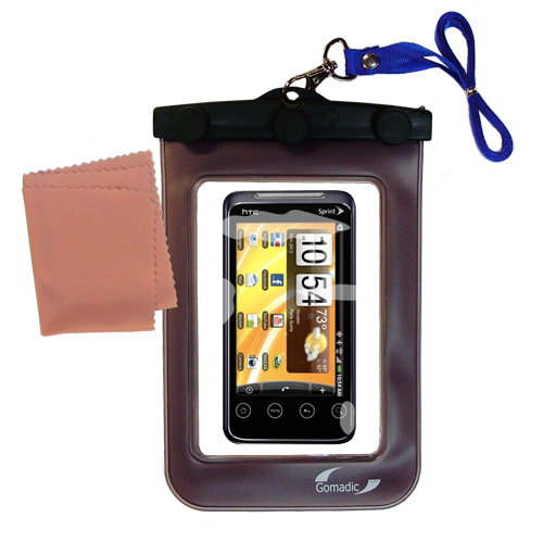 Waterproof Case compatible with the HTC Evo Shift 4G to use underwater