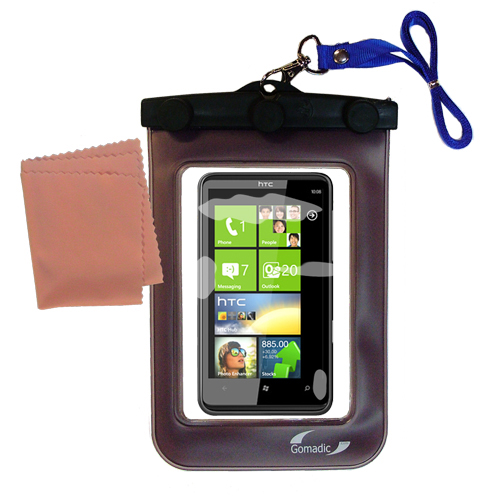 Waterproof Case compatible with the HTC HD7S to use underwater