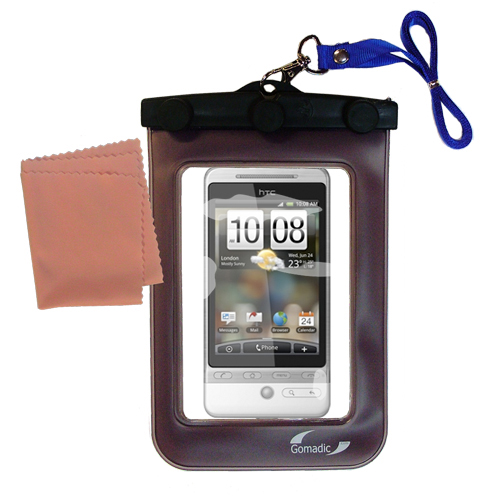 Waterproof Case compatible with the HTC Hero 4G to use underwater