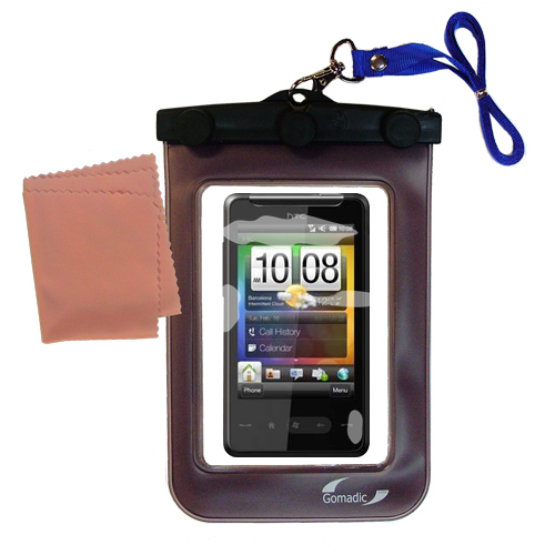 Waterproof Case compatible with the HTC HTC 7 Surround to use underwater