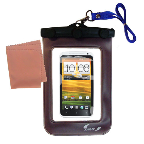 Waterproof Case compatible with the HTC One X to use underwater