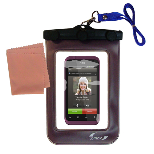 Waterproof Case compatible with the HTC Rhyme to use underwater