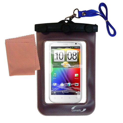 Waterproof Case compatible with the HTC Runnymede to use underwater