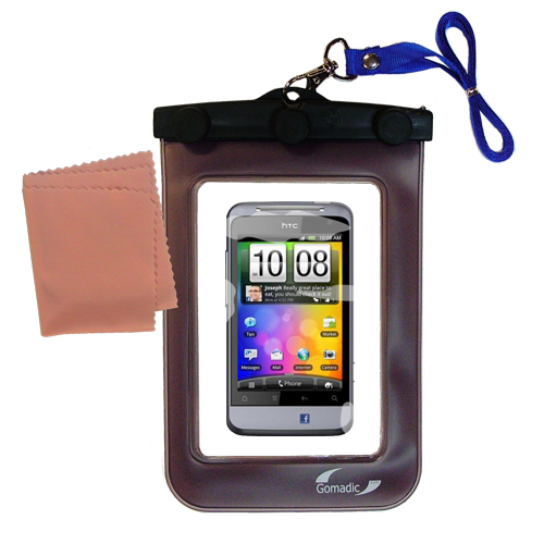 Waterproof Case compatible with the HTC Salsa to use underwater