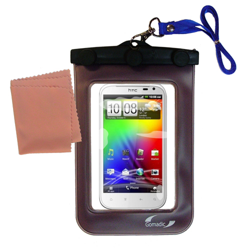 Waterproof Case compatible with the HTC Sensation XL to use underwater
