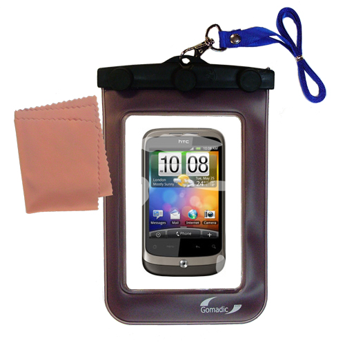 Waterproof Case compatible with the HTC Wildfire to use underwater