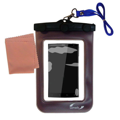 Waterproof Case compatible with the HTC Zeta to use underwater