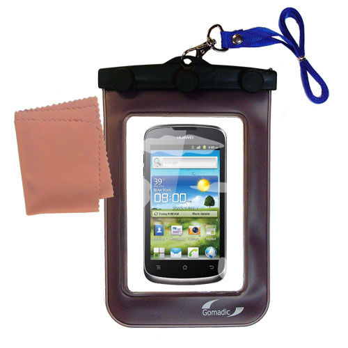 Gomadic clean and dry waterproof protective case suitablefor the Huawei U8815  to use underwater - Unique Floating Design