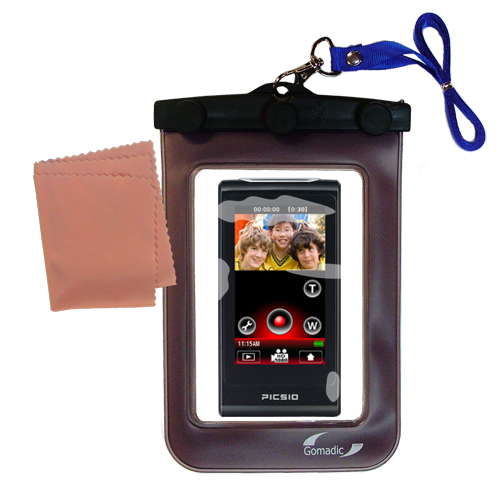 Waterproof Camera Case compatible with the JVC Picsio GC-FM2BUS