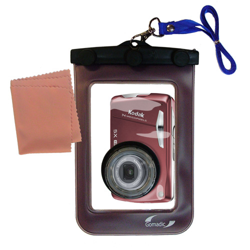 Waterproof Camera Case compatible with the Kodak EasyShare M575