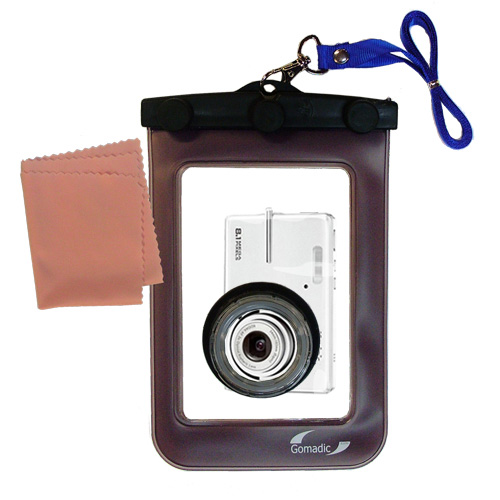Waterproof Camera Case compatible with the Kodak M893 IS