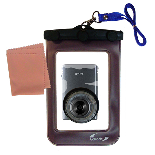 Waterproof Case compatible with the Kodak Zm2 Mini Video Camera to use underwater