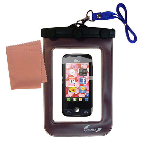 Waterproof Case compatible with the LG Cookie Fresh (GS290) to use underwater