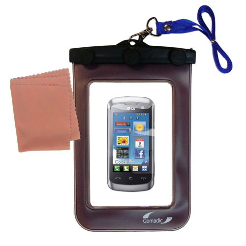 Waterproof Case compatible with the LG Cookie Live to use underwater
