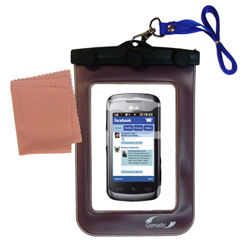 Waterproof Case compatible with the LG Cookie Music to use underwater