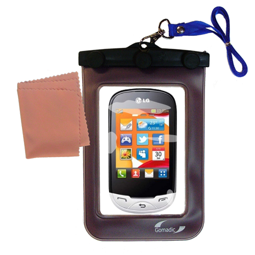 Waterproof Case compatible with the LG EGO Wi-Fi to use underwater