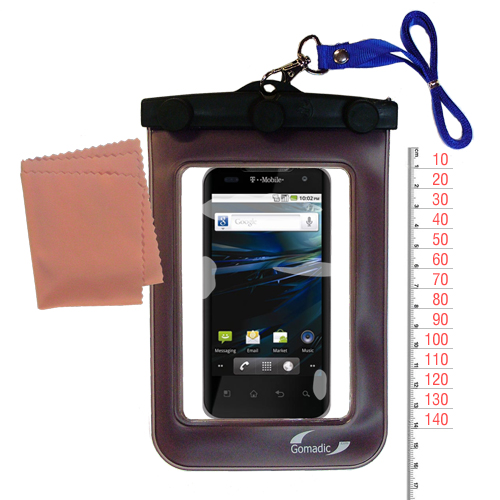 Waterproof Case compatible with the LG G2x to use underwater